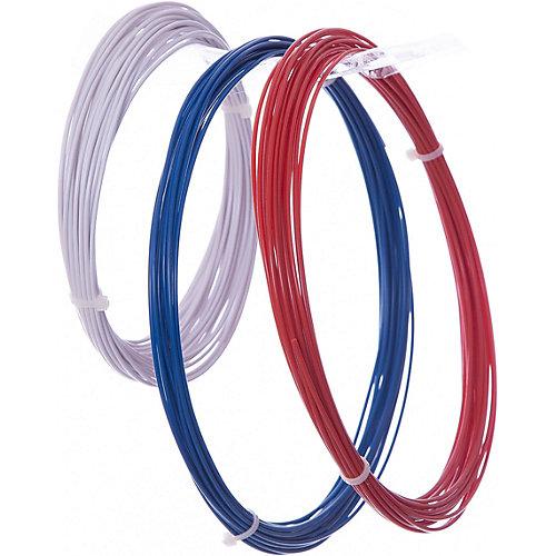 Комплект ABS-пластика ESUN 1.75 мм, (белый, синий, красный) от Esun