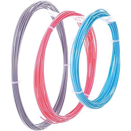Комплект ABS-пластика ESUN 1.75 мм, (голубой, розовый, серебряный) от Esun