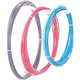 Комплект ABS-пластика ESUN 1.75 мм, (голубой, розовый, серебряный)