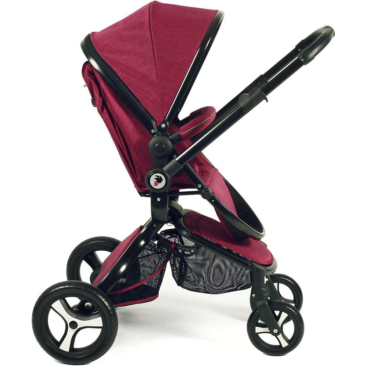kombi kinderwagen platino jeans rose red 2018 chic 4 baby mytoys. Black Bedroom Furniture Sets. Home Design Ideas
