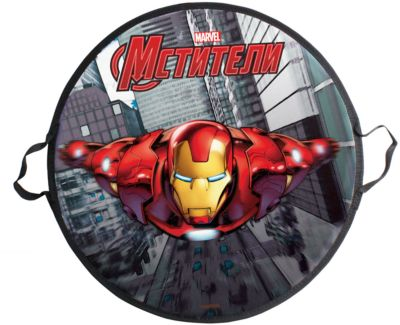 "Ледянка 1Toy ""Marvel"" Железный Человек, круглая, 52 см"