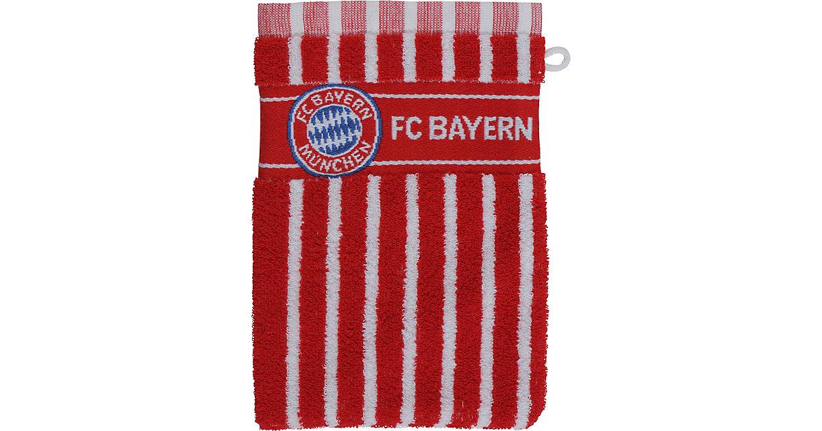 FC Bayern München · Waschhandschuh FCB, rot/weiß, 16 x 21,5 cm
