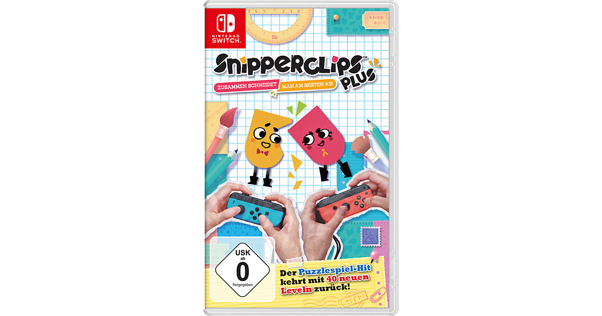 Nintendo Switch Snipperclips Plus - Zusammen schneidet man am besten ab!