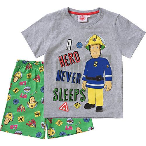 Feuerwehrmann Sam Schlafanzug Gr. 92/98 Jungen Kleinkinder | 04052384349431