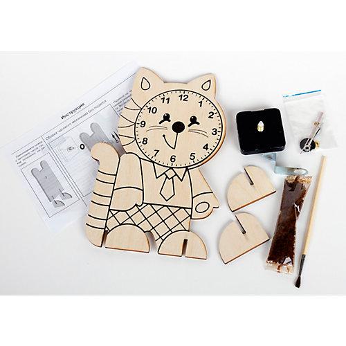 Набор для творчества. Деревянные часы своими руками. Котёнок от Десятое королевство