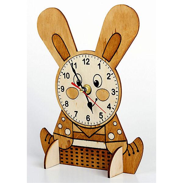 Набор для творчества. Деревянные часы своими руками. Зайчонок