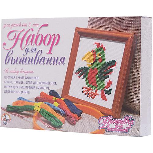 """Набор для творчества. Вышивка """"Попугай"""" (с рамкой и пяльцами) от Десятое королевство"""