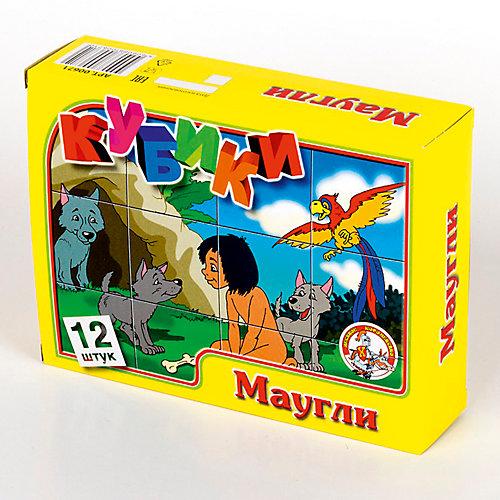 """Кубики """"Маугли"""" (без обклейки) 12 шт от Десятое королевство"""