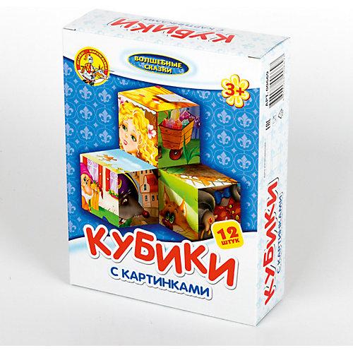 """Кубики с картинками """"Волшебные сказки"""" (без обклейки) 12 шт"""