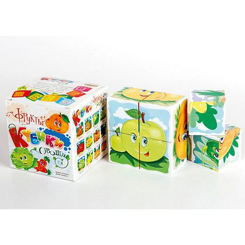 """Кубики """"Овощи и фрукты"""" (без обклейки) 8 шт."""