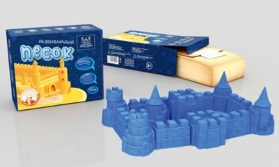Кинетический песок, цвет голубой, упаковка 1 кг