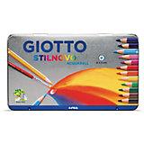 Цветные акварельные карандаши Giotto Scat Metallo, 12 цветов