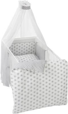 Alvi Bettset Himmelset für Kinderbett Hippo silber  100x135 cm NEU
