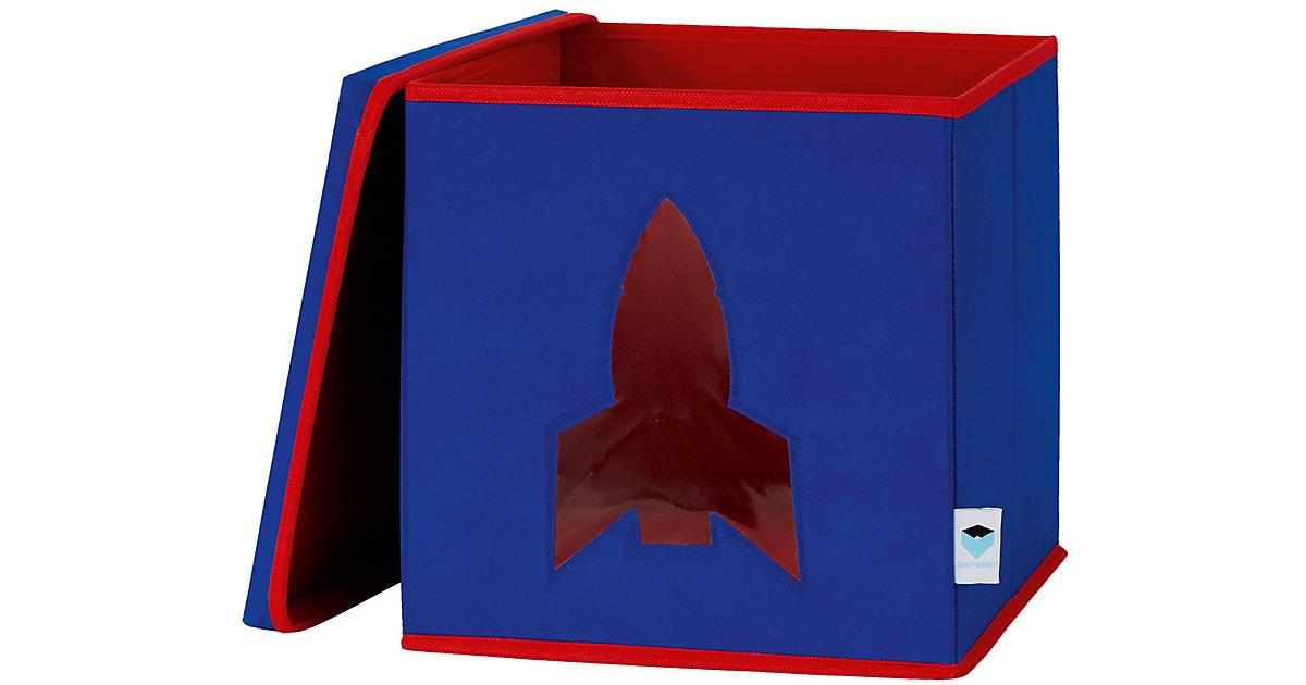 Image of Aufbewahrungsbox Rakete, mit Sichtfenster dunkelblau