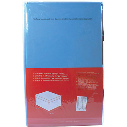Большая коробка с крышкой для хранения Store it Слон - сине-серый от STORE IT!