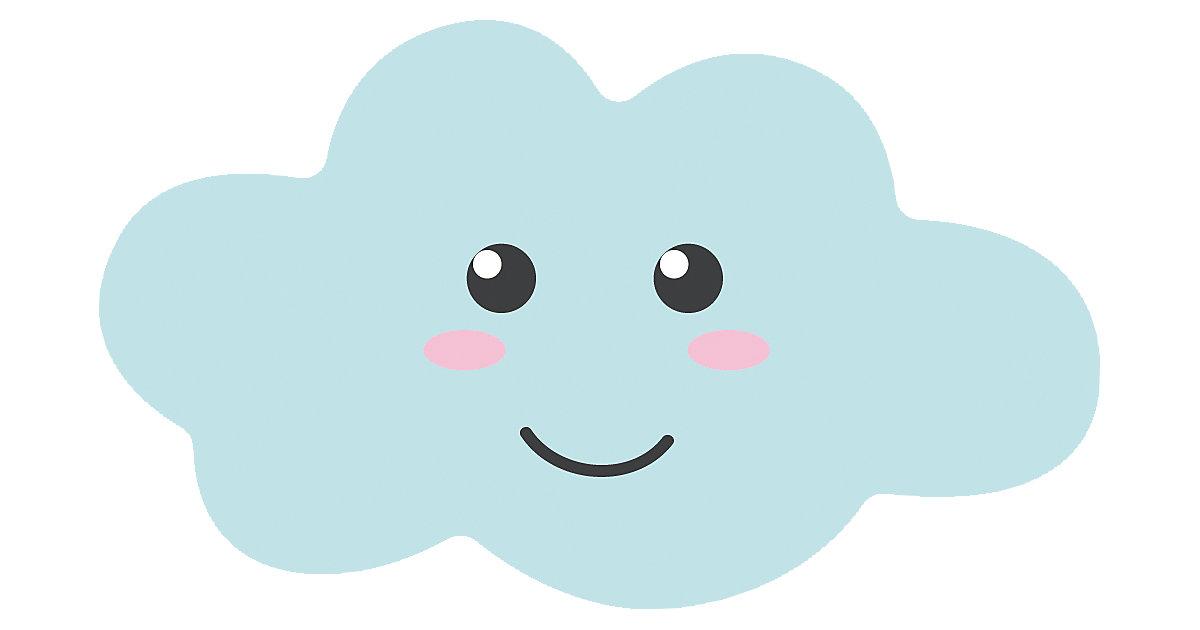 Kinderteppich Ultrasoft süße Wolke, 60 x 100 cm hellblau