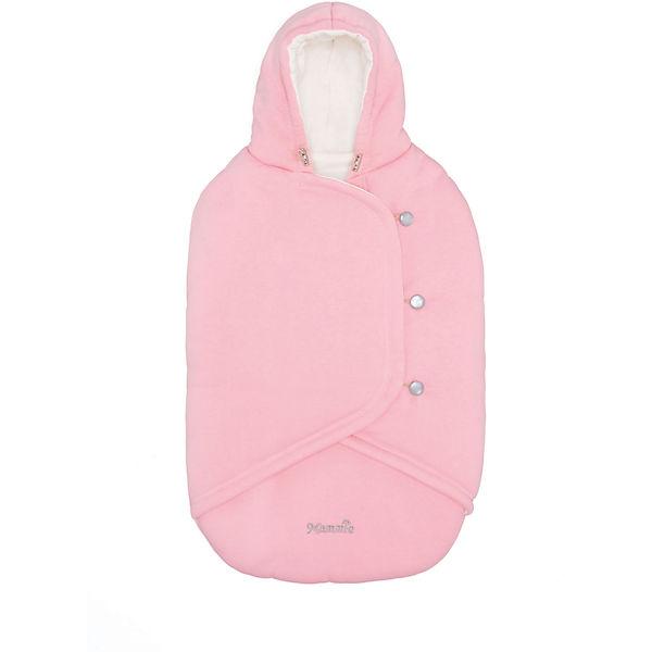 Конверт-кокон Mammie, с прорезями для автокресла, розовый