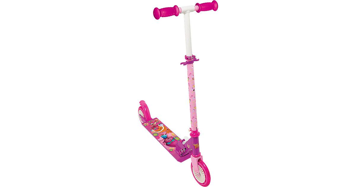 Trolls Scooter mit Bremse, klappbar pink
