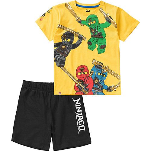 LEGO Ninjago Schlafanzug Gr. 128/134 Jungen Kinder | 05700967019163
