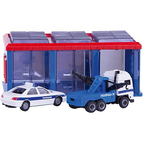 """Гараж Пламенный мотор """"Полиция"""", 2 машинки от Пламенный мотор"""