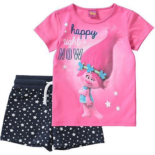 Trolls Schlafanzug Gr. 128/134 Mädchen Kinder | 04022158412050