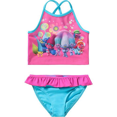 Trolls Kinder Tankini mit UV-Schutz Gr. 92/98 Mädchen Kleinkinder   04022158412104
