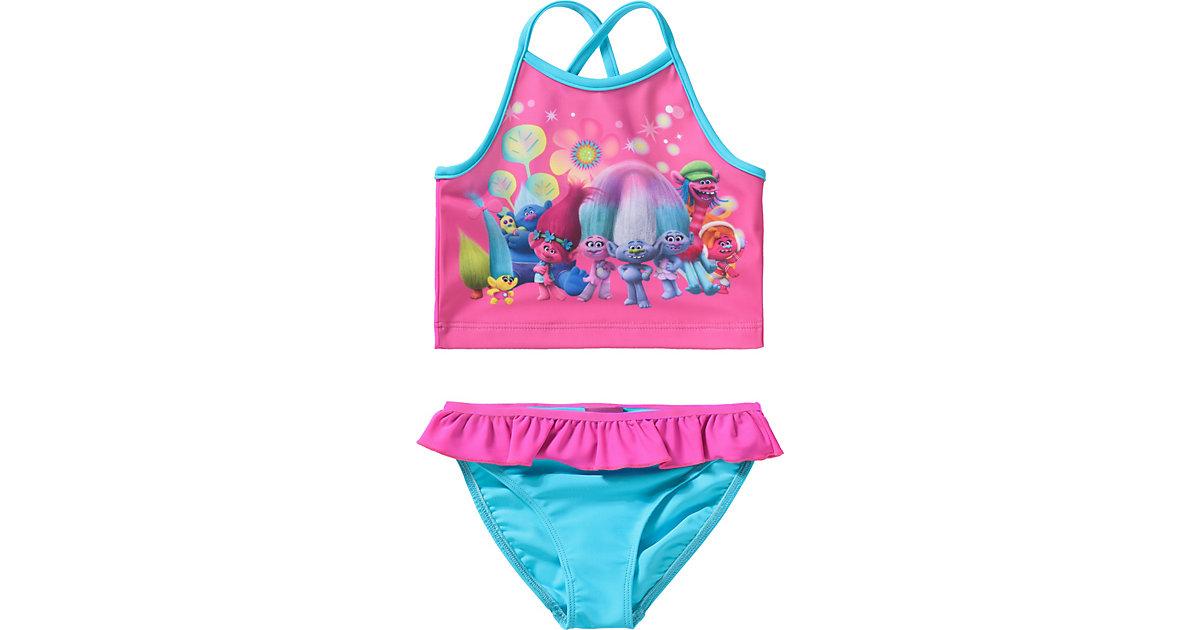 Trolls Kinder Tankini mit UV-Schutz türkis/pink Gr. 92/98 Mädchen Kleinkinder