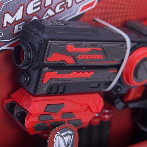 Мегабластер Abtoys с мягкими пулями, красный