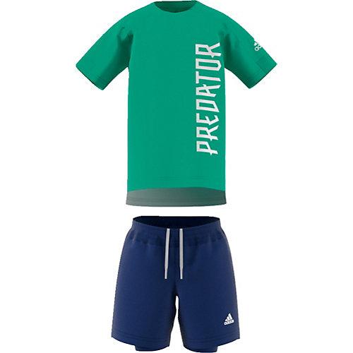 ADIDAS,ADIDAS PERFORMANCE Set Funktionsshirt + Trainingsshorts Gr. 98 Jungen Kleinkinder | 04059805529731