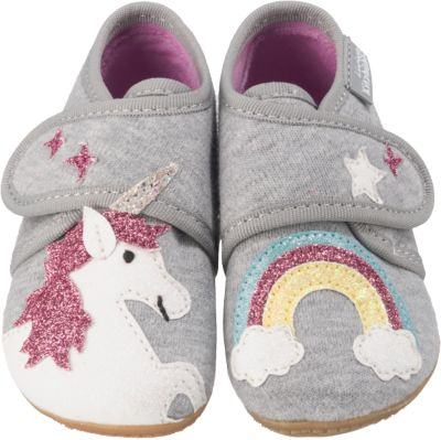 Baby Hausschuhe für Mädchen, Einhorn, Living Kitzbühel