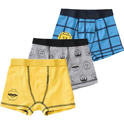 LEGO Boxershorts im 3er-Pack Gr. 128 Jungen Kinder | 05700067526813