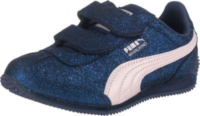 PUMA, Sneakers Whirlwind Glitzer für Mädchen, dunkelblau