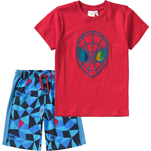 Spider-Man Set T-Shirt + Shorts Gr. 128 Jungen Kinder | 08058648126059