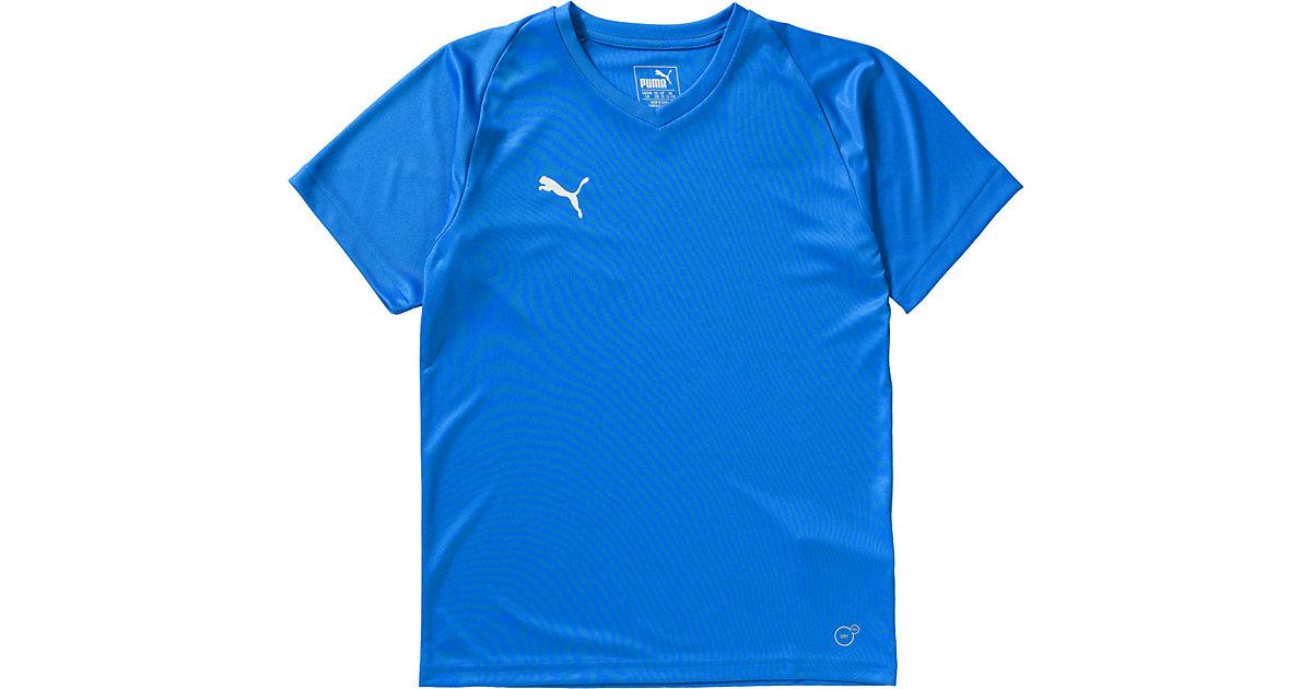 Trikotshirt LIGA  blau Gr. 116 Jungen Kinder
