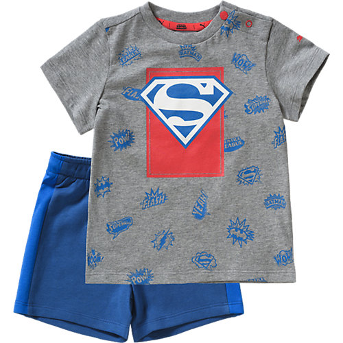 PUMA Batman Set: T-Shirt + Shorts Gr. 80 Jungen Kinder | 04059504434862