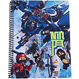 Тетрадь на спирали (70 листов, линейка) LEGO Ninjago Movie (Лего Фильм: Ниндзяго), размер: 20,3х26,6см
