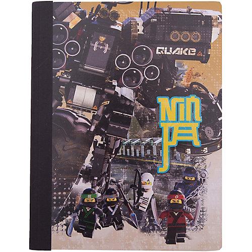 Тетрадь (100 листов, линейка) LEGO Ninjago Movie (Лего Фильм: Ниндзяго), размер: 19х24,7 см от LEGO