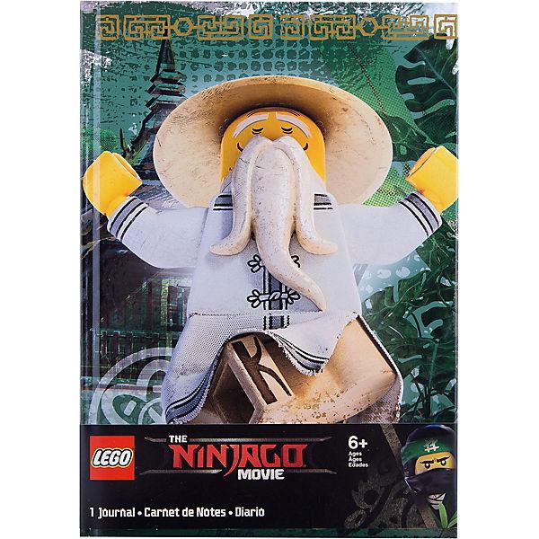 Книга для записей (96 листов, линейка)  с резинкой LEGO Ninjago Movie (Лего Фильм: Ниндзяго)-Sensei Wu