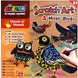 """Набор для гравюры """"Волшебные птички"""""""