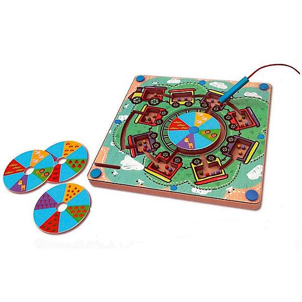 """Развивающая игра """"Деревянный лабиринт с магнитными шариками"""""""