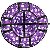 """Тюбинг Hubster """"Люкс Pro"""" Фиолетовые мишки, 120 см"""