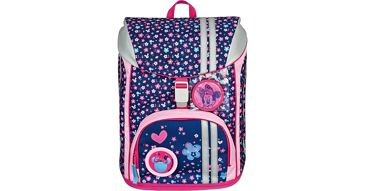 Schulrucksackset FlexMax Minnie Mouse, 5-tlg. (Kollektion 2019/2020) pink/blau