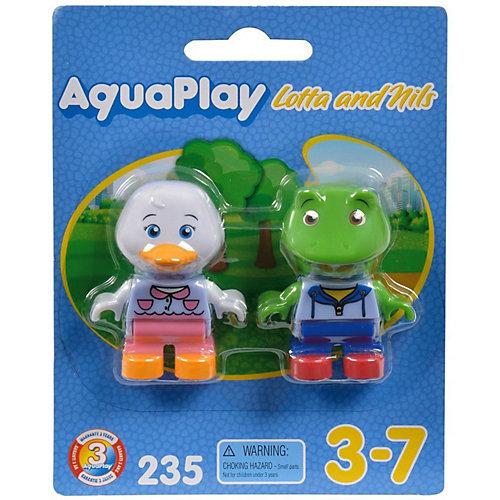 Игровой набор для водных треков Big AquaPlay Утка Лотта и лягушка Нильс от Aquaplay