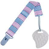 Прорезыватель на держателе Roxy-kids Клетка, голубой/розовый