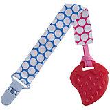 Прорезыватель на держателе Roxy-kids Круги, голубой/розовый