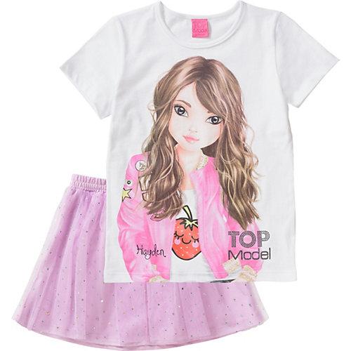 TOPModel Kinder Set T-Shirt + Tüllrock Gr. 152/158 Mädchen Kinder   04022158412227