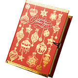 Подарочная коробка Золото на красном-M
