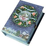 Подарочная коробка Новогодний венок-M