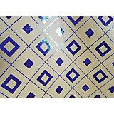Крафт бумага Синяя геометрия для сувенирной продукции в листах