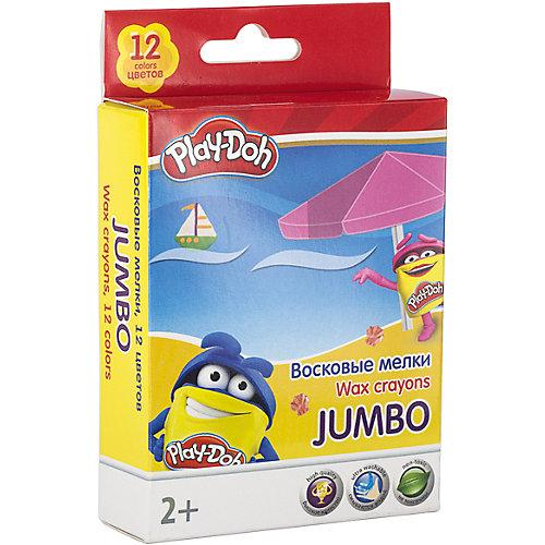 """Восковые мелки Jumbo Академия Групп """"Play-Doh"""" 12 цветов от Академия групп"""